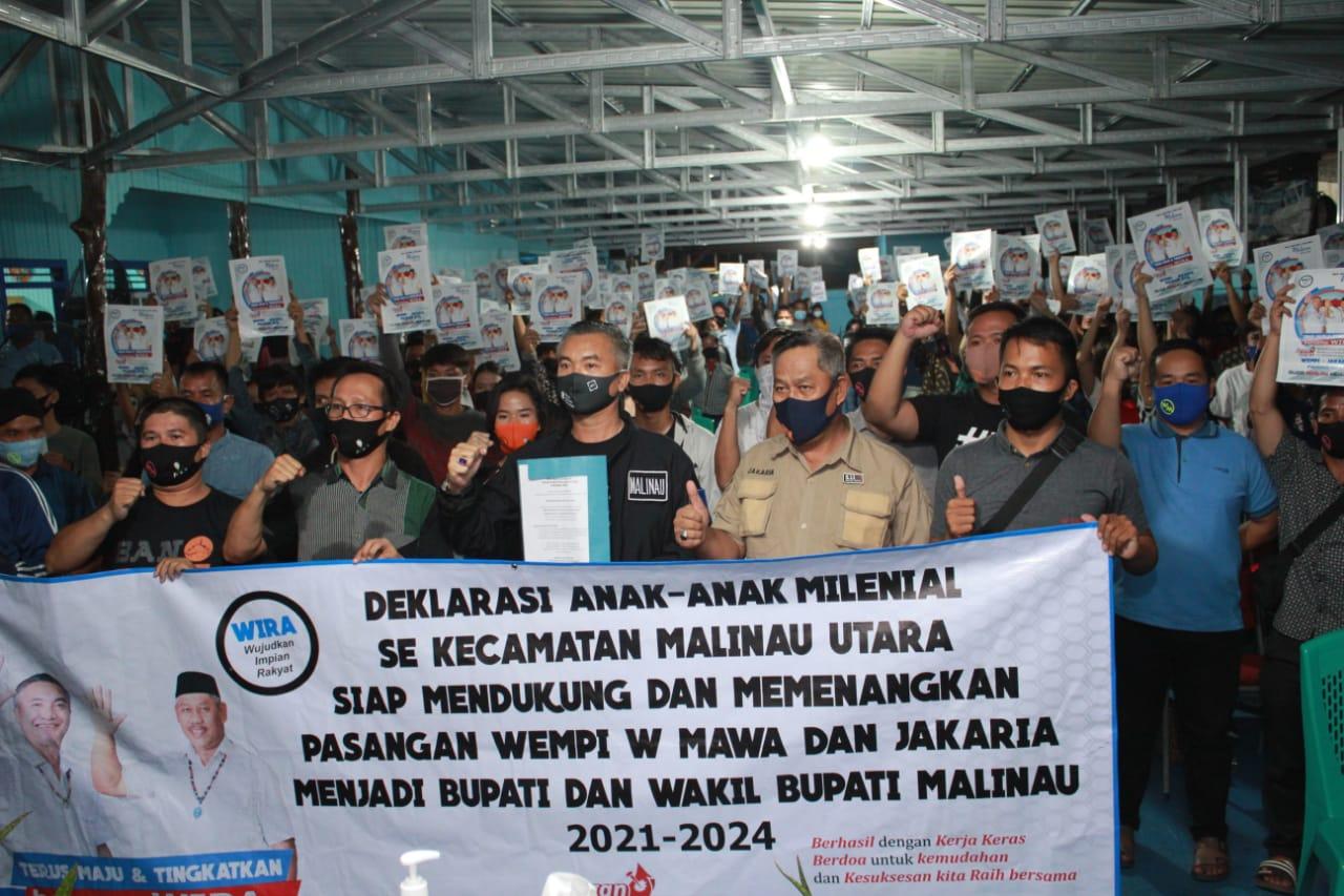 Deklarasi Dukungan Pemuda Malinau Utara bersama WIRA