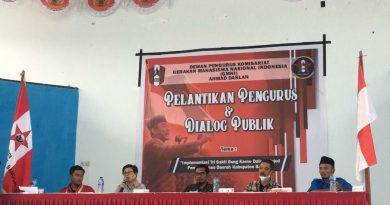 DPK GMNI Ahmad Dahlan Sukses Gelar Pelantikan Dan Dialog Publik