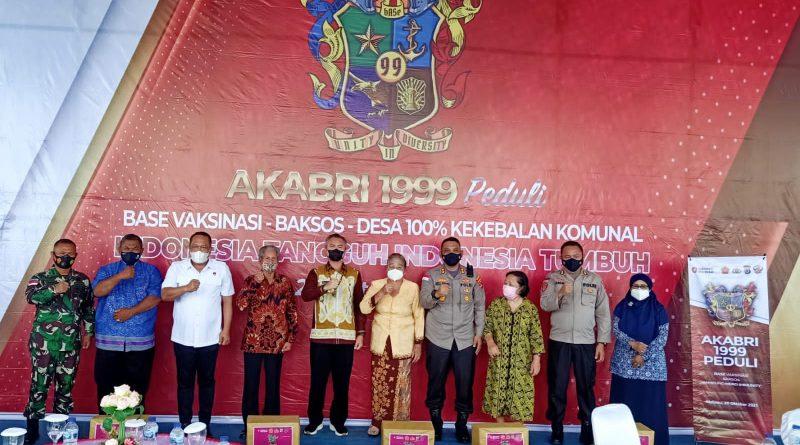 22 Tahun Pengabdian, Alumni Akabri 1999 di Malinau Gelar Vaksinasi & Bagi Sembako